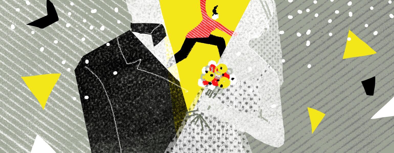 Split, divorce, aarp, girlfriend, marriage, illustration