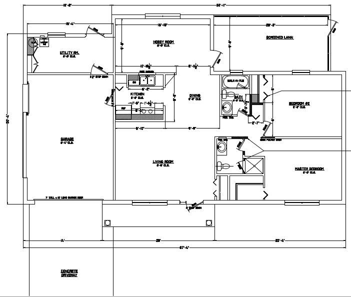 The Florida home's current floor plan.