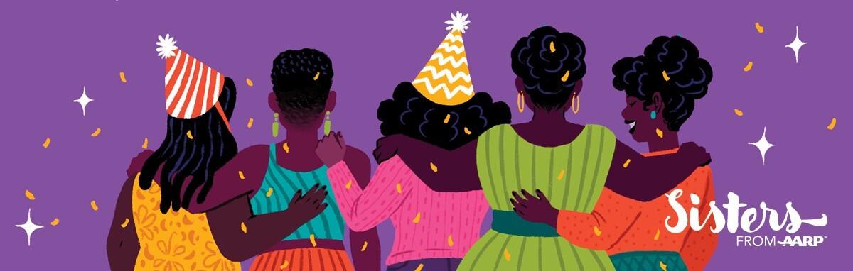 Illustration of women celebrating