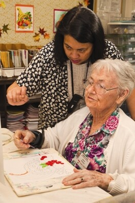 A study shows that caregivers who send loves ones with dementia to adult day services feel less stress and may be protected from illness
