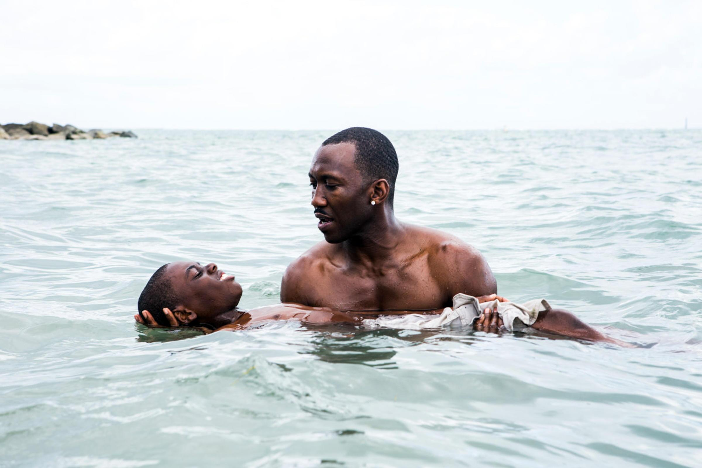 Moonlight is a 2016 American drama film written and directed by Barry Jenkins, based on the play In Moonlight Black Boys Look Blue by Tarell Alvin McCraney. The film stars Trevante Rhodes, Andre Holland, Janelle Monae, Ashton Sanders, Jharrel Jerome, Naom