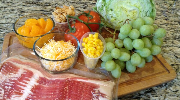 grape and bacon salad ingredients