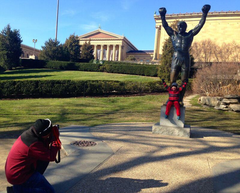 La Estatua de Rocky en el Museo de Arte de Filadelfia