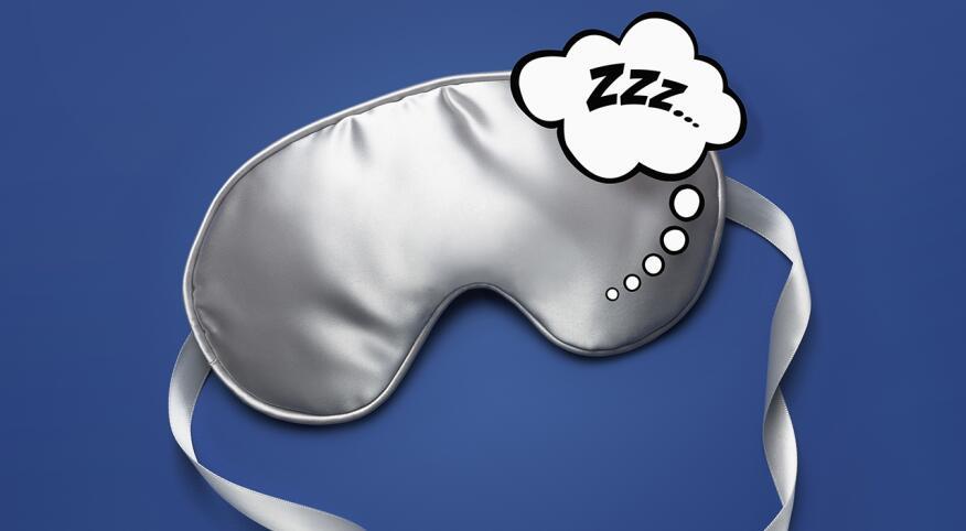 """Sleep mask with """"ZZZ"""" bubble"""