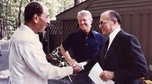 Begin Sadat and Carter at Camp David in 1978