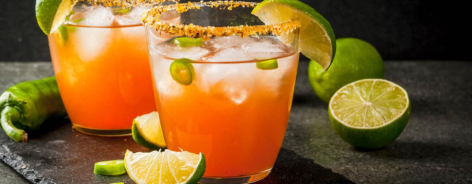 low proof spicy cocktail with jalapenos and lime