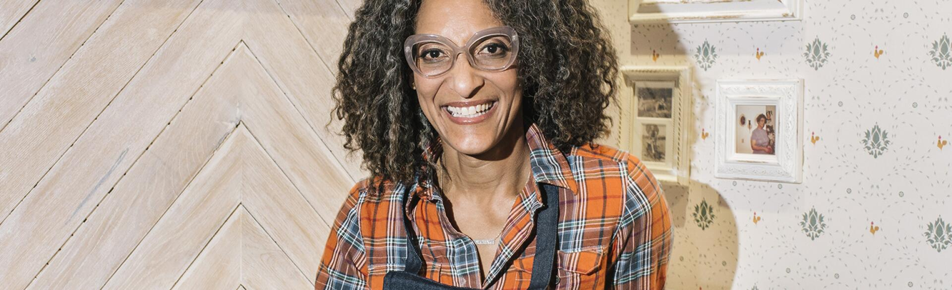 Carla Hall at her restaurant in New York.