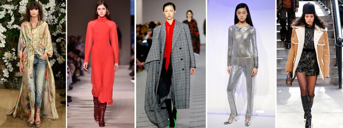 AARP, The Girlfriend, Fall 2017, Runway, Fashion, Trends, boots, florals, checks, sherling, metalics