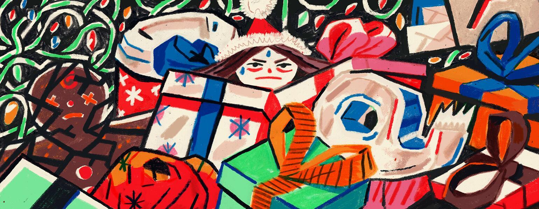 aarp, girlfriend, holiday, illustration