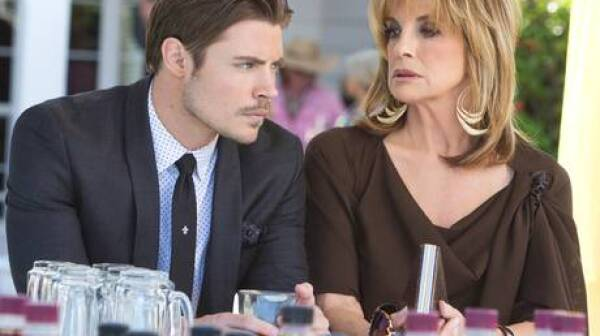 Josh Henderson and Linda Gray