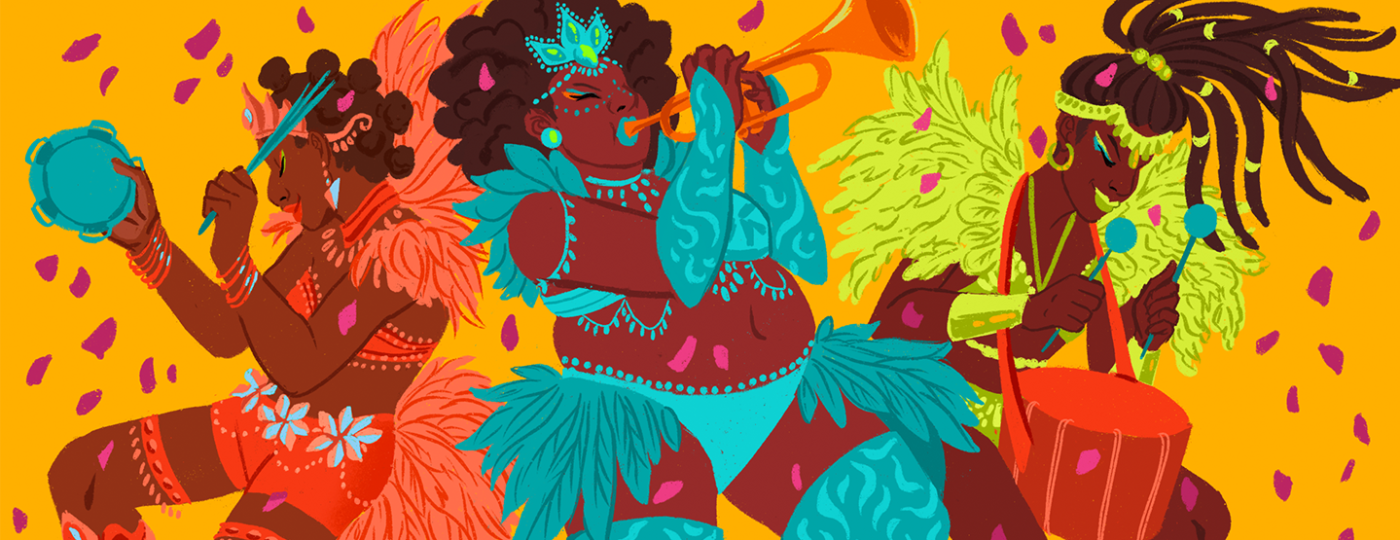 illustration_of_ladies_dressed_in_carnival_clothes_playing_instruments_caribbean_playlist_by_charlot_kristensen_1440x584.png