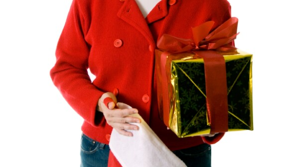 Woman With Gifts - Frantic Holiday