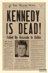 'Kennedy Is Dead' news clipping