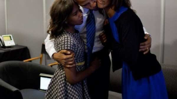 President Obama and daughters Malia and Sasha