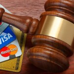 Gavel and credit cards