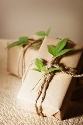 Rustic present boxes