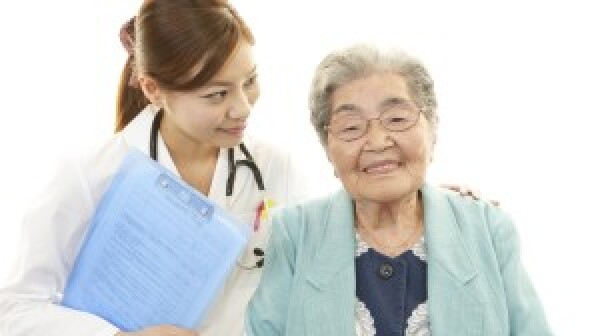 Doctor with elderly patient