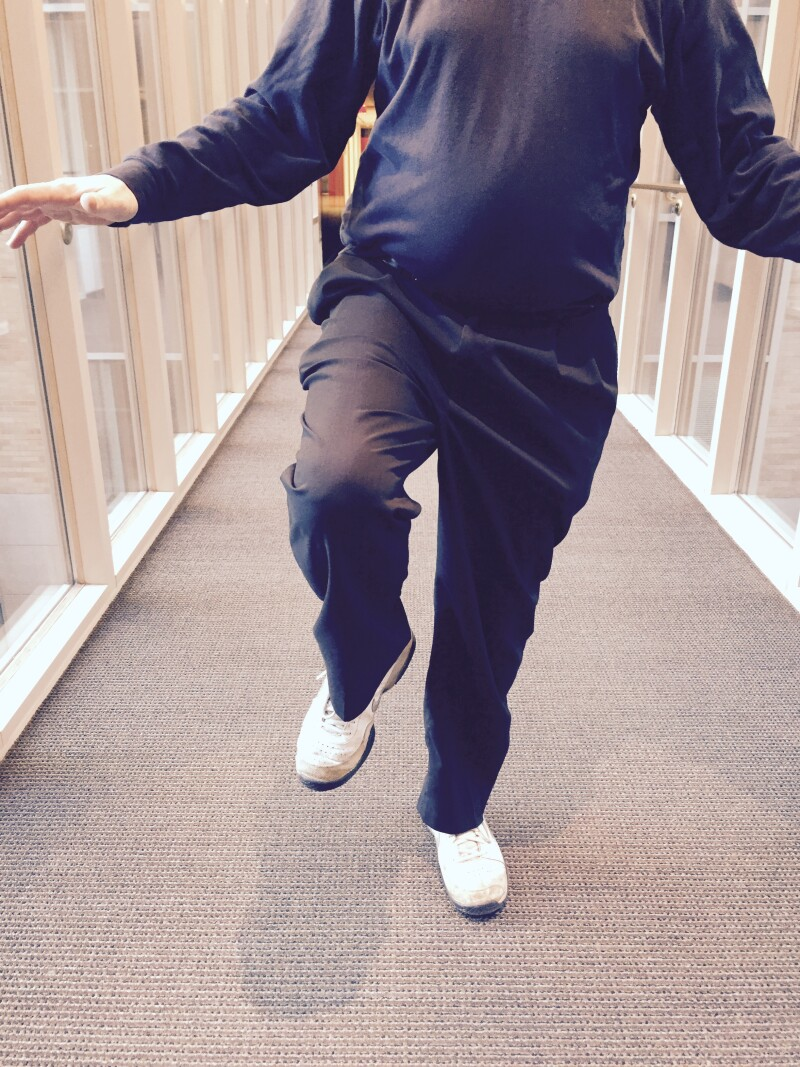 Balance on one foot