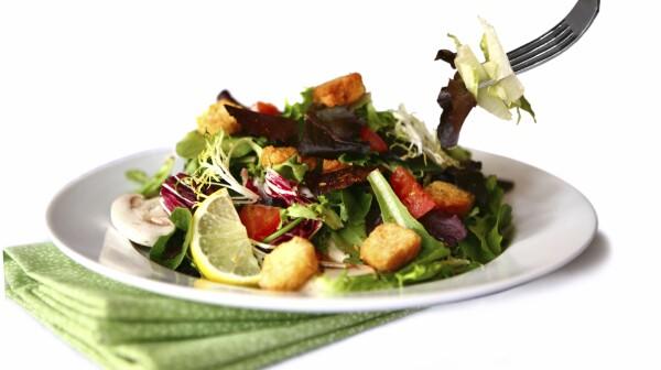 Beautiful Salad on White