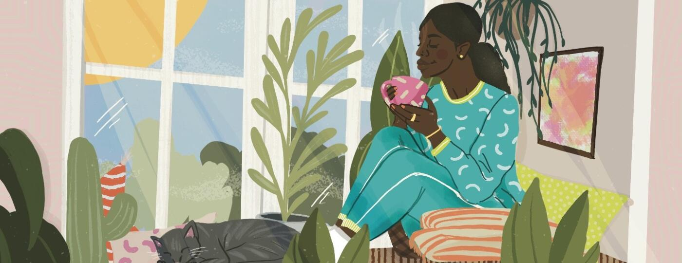 illustration_of_woman_drinking_from_a_mug_looking_out_the_window_with_cat_sleeping_by_rashida_chavis_1440x560.jpeg