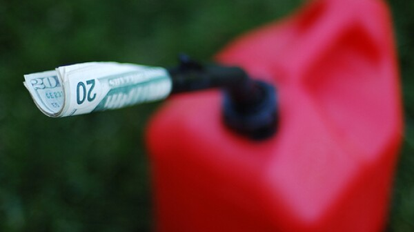 gas can with money