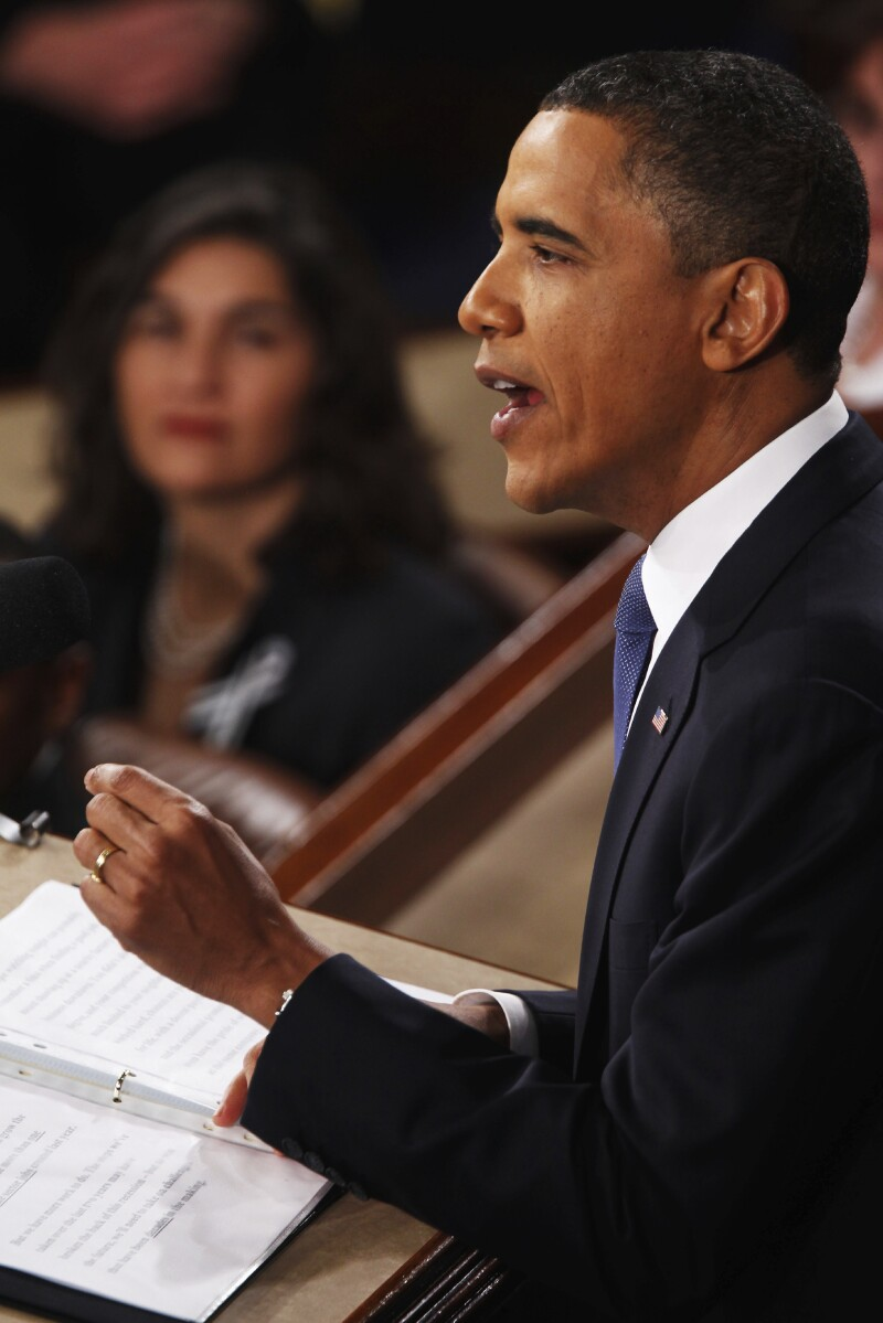 Obama Delivers State Of The Union Address To Joint Session Of Congress