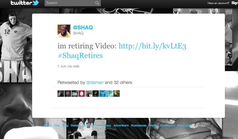 Shaq Retirement Tweet