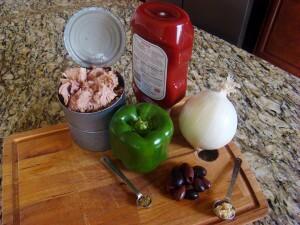 antipasto tuna ingredients