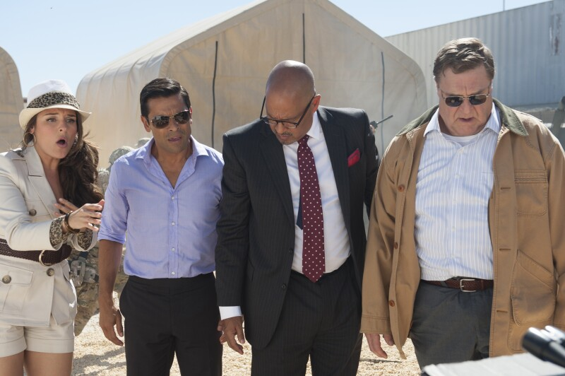 Yara Martinez Mark Consuelos Clark Johnson  and John Goodman in Alpha House