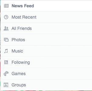 New filters Facebook newsfeed March