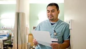More men are seeking jobs in the health care field.