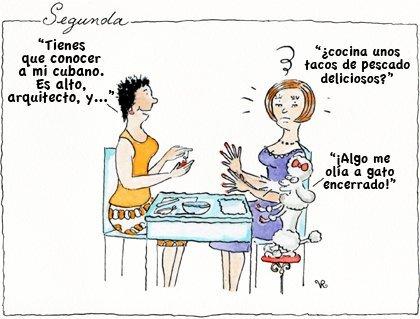 Segunda y Lady Piola cenando con una amiga.