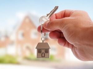 Holding house keys