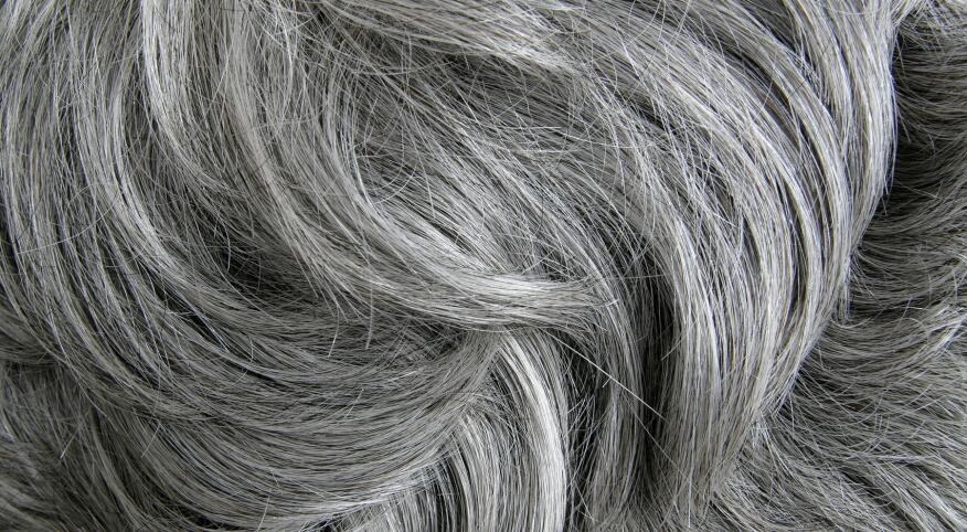 Grey hair texture