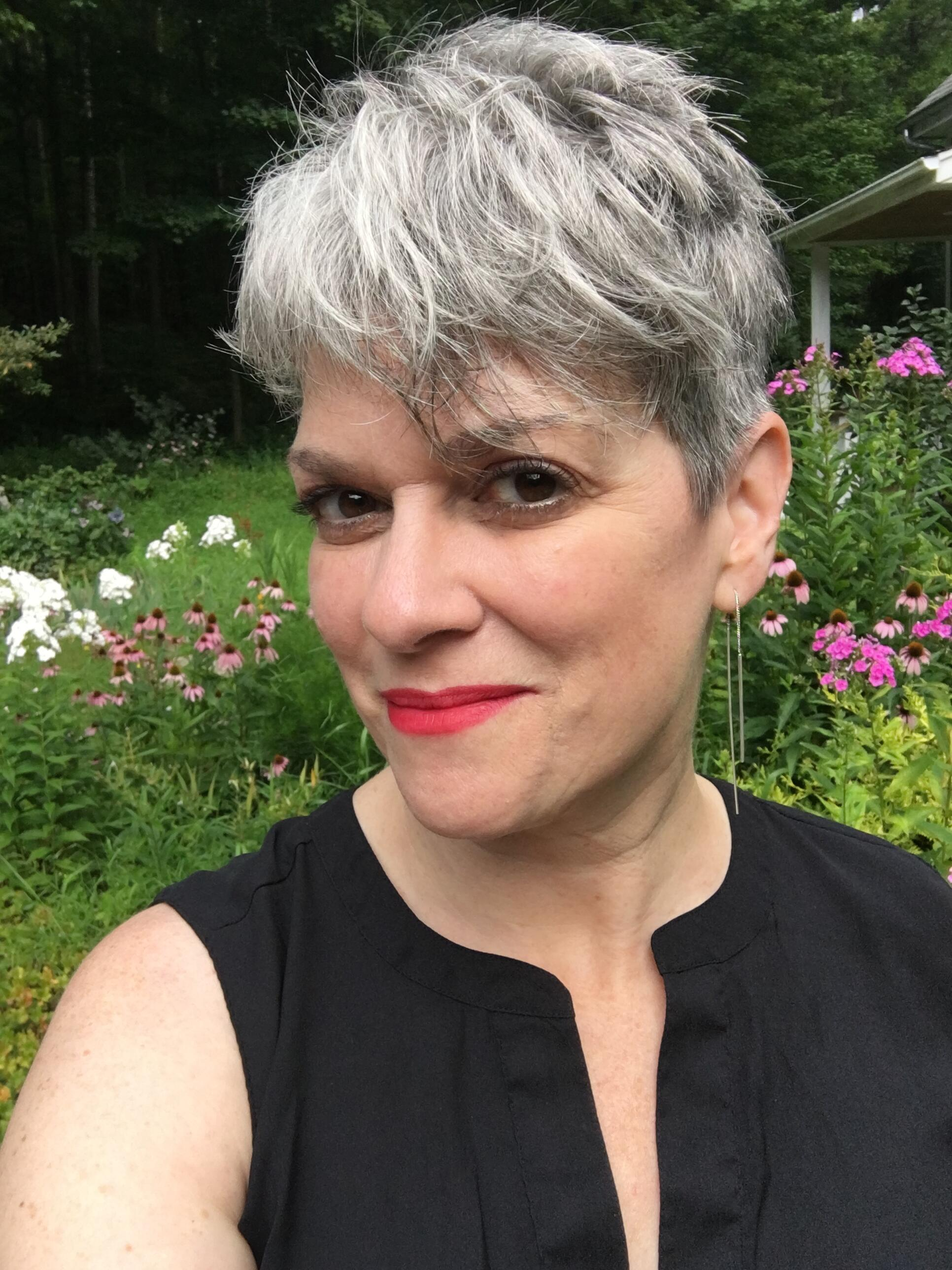 Author Kristan Higgins gray hair