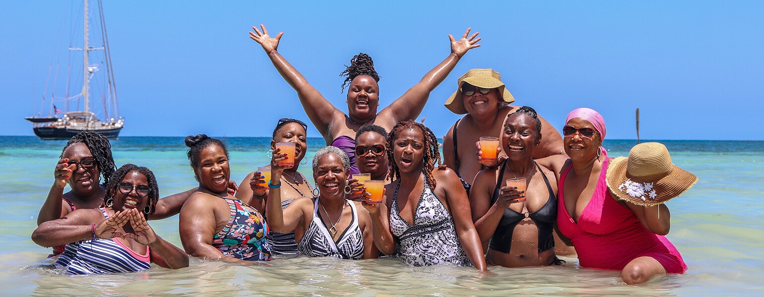 A photo of a group of women at a wellness retreat.