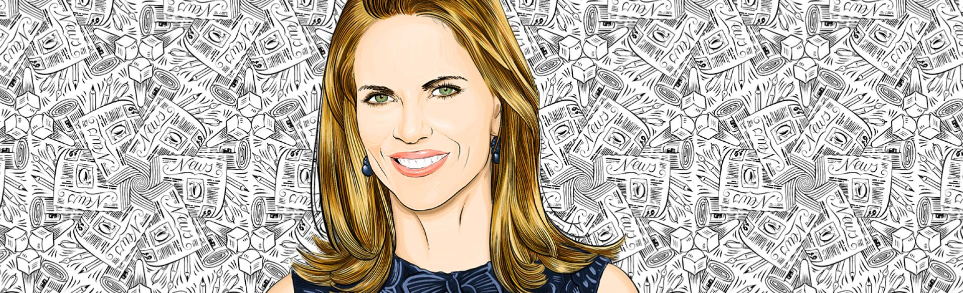 illustration of former news anchor natalie morales
