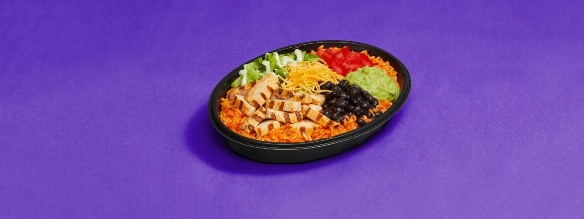 healthy fast food power bowl by Taco Bell