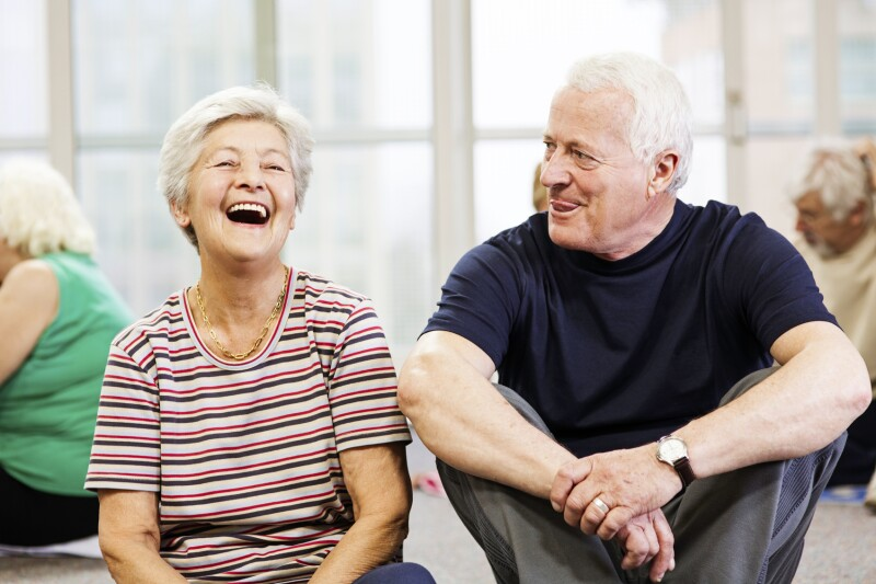 Older adults in senior center