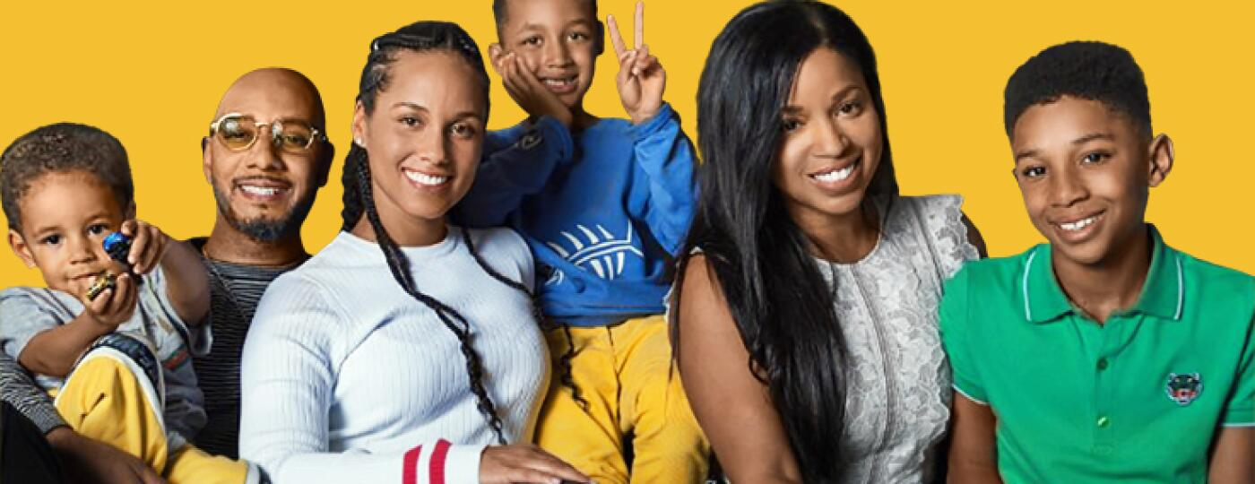 Mashonda Tifrere with her kids ex husband and alicia keys