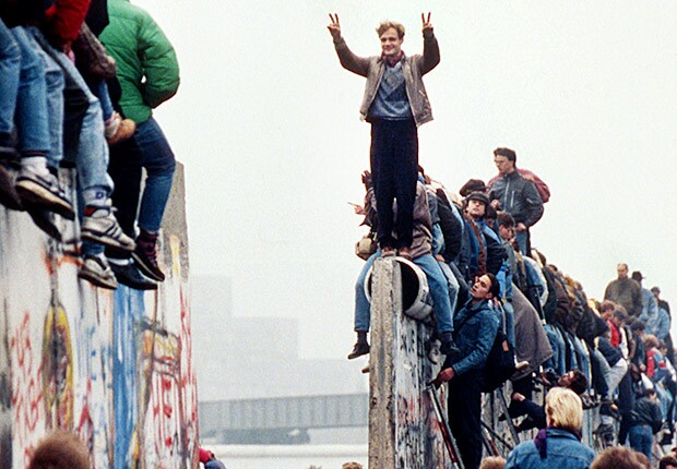 Fall of Berlin Wall in 1989