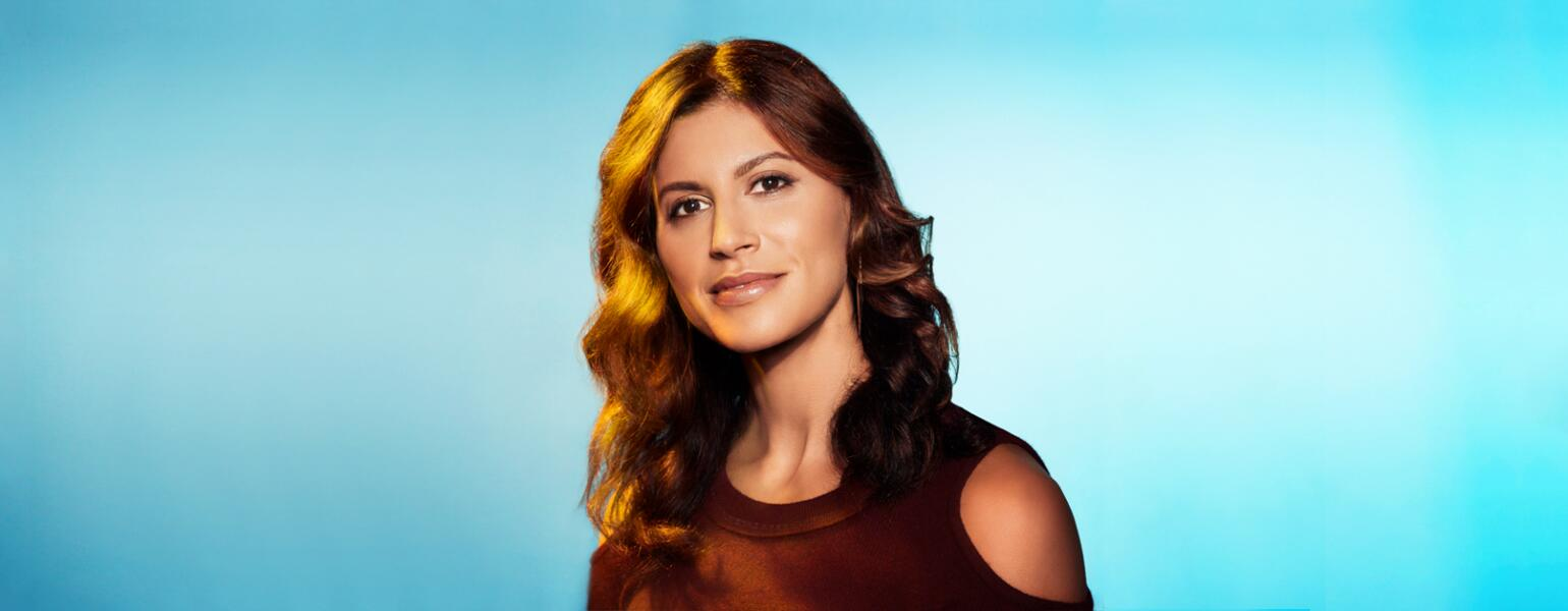 photo of Tatiana Hoover with blue background
