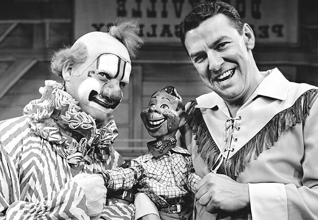 Howdy Doody, Buffalo Bob and Clarabell the Clown