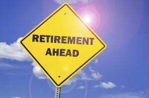 Retirement Ahead street sign