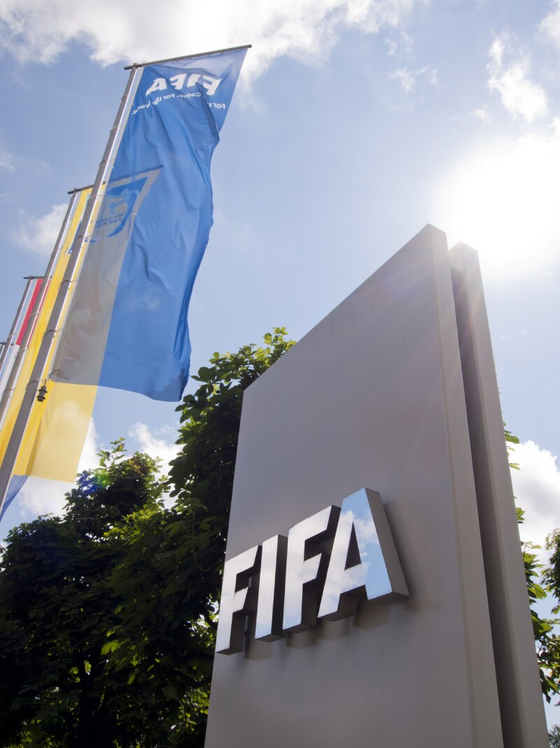 Entrance to the FIFA headquarters in Zurich, Switzerland