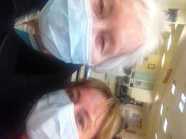 hospital with masks