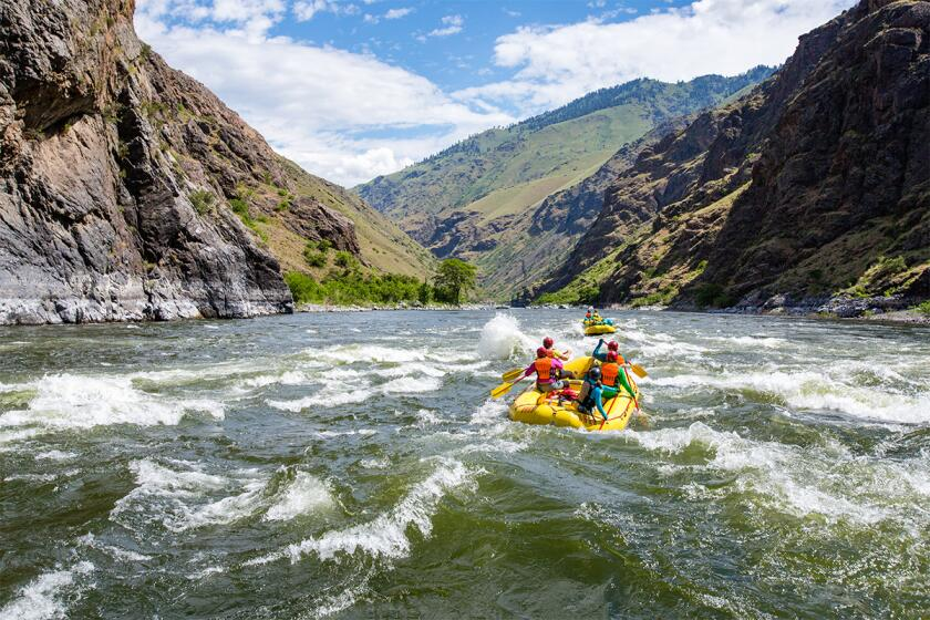 Whitewater rafting with OARS.