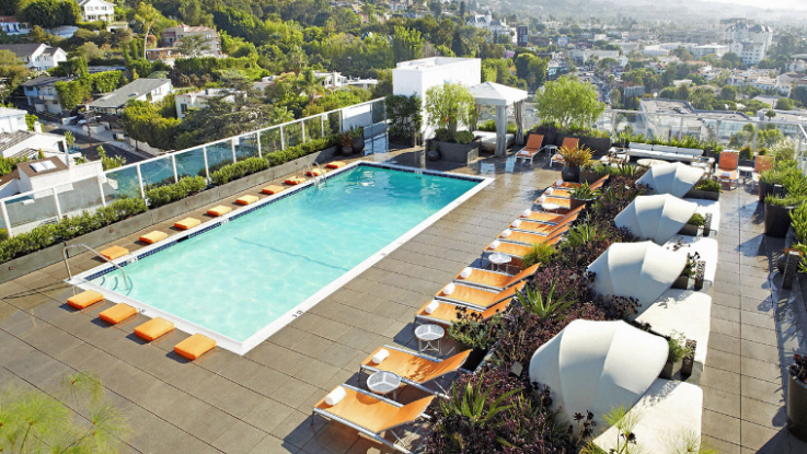 Piscina del hotel Andaz West Hollywood