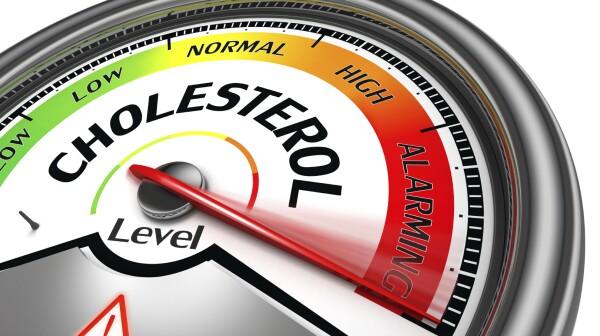 cholesterol level conceptual meter