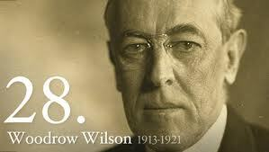 President of the United States of America Woodrow Wilson